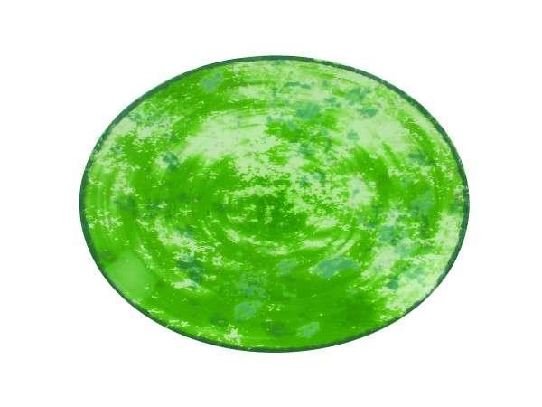 TELLER OVAL 36 CM - GREEN