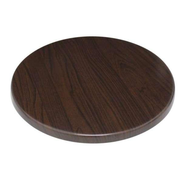 Bolero Tischplatte Rund Dunkelbraun 60 cm