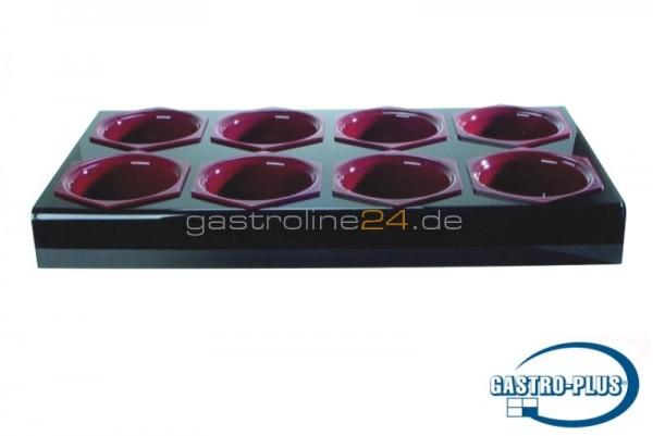 Halter für 8x Salatschüsseln 1818 (2x4 - L 800 mm)