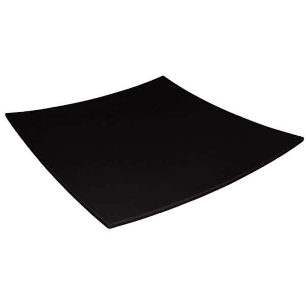 Kristallon gerundeter quadratischer Teller schwarz 310x310mm