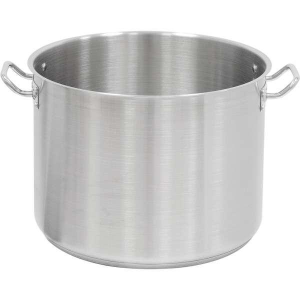 Suppentopf mittelhohe Form, ohne Deckel, Ø 400 mm, Höhe 300 mm, 37,7 Liter