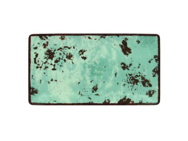 TELLER FLACH RECT. 33 x 18 cm - BLUE