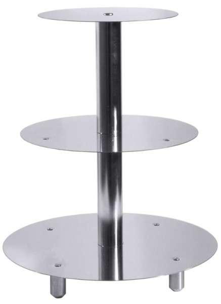 ETAGEN-TORTENSTÄNDER, 3-STUFIG Durchmesser: 20 cm / 26 cm / 3