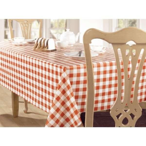 PVC Tischdecke rot/weiß 135x225cm