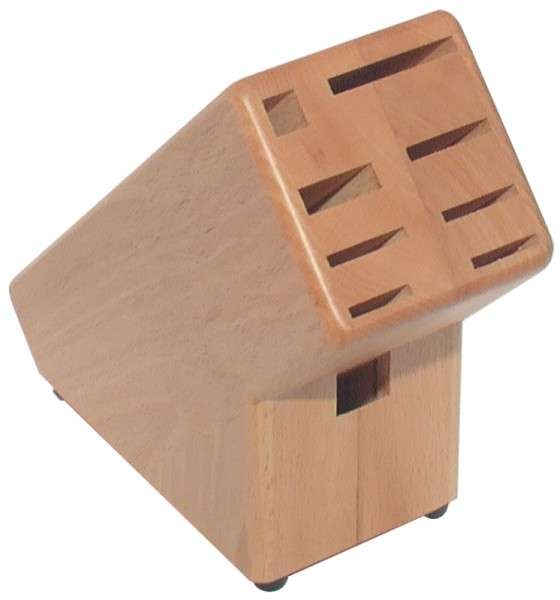 MESSERBLOCK, BUCHE HELL Länge: 19 cm