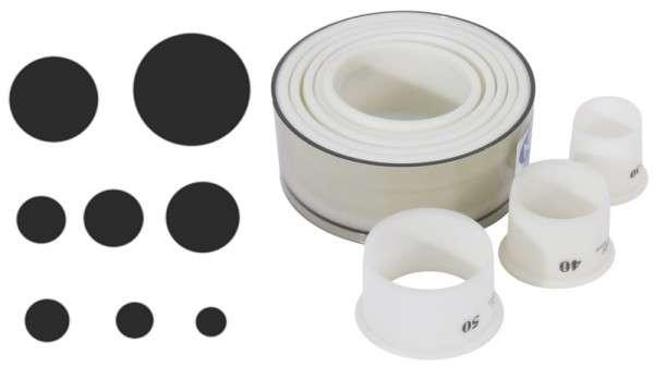 AUSSTECHERSATZ, GLATT Durchmesser maximal: 10 cm
