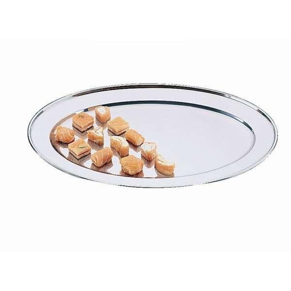 Ovales Edelstahl-Serviertablett 60cm