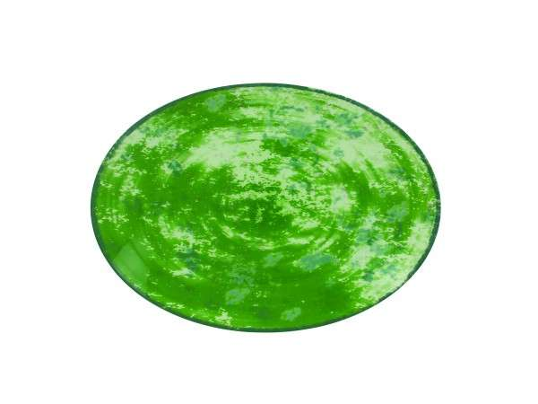 TELLER OVAL 32 CM - GREEN