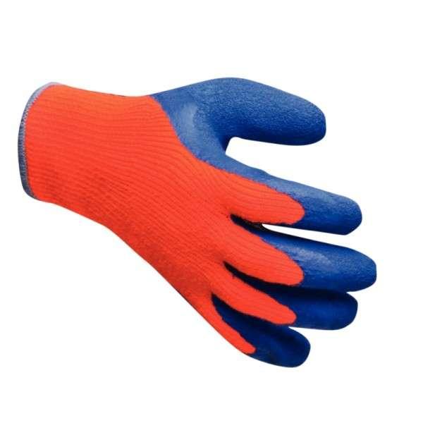 Gefrierschutzhandschuhe orange/blau