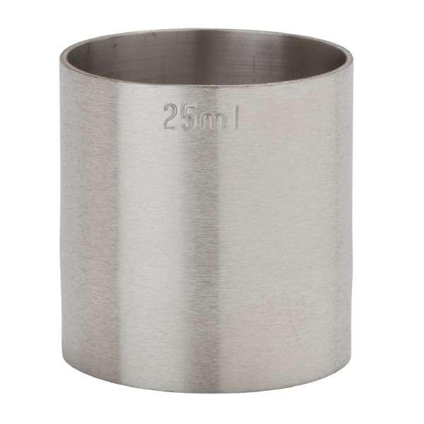 Edelstahl Doppelmaß 25 ml