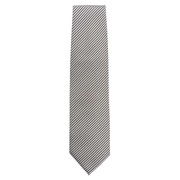 Krawatte silber gestreift