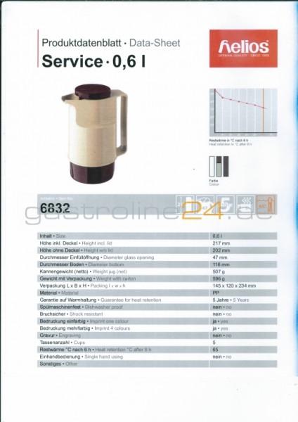 Isolierkanne SERVICE 0,6 Liter