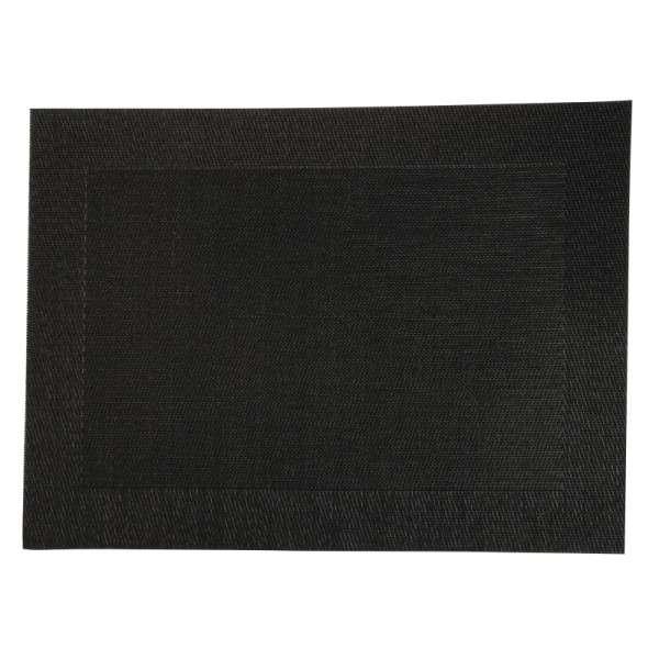 PVC gewebtes Tischset schwarz 30x40cm