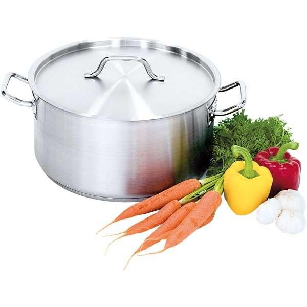 Suppentopf mit Deckel, Ø 400 mm, Höhe 250 mm, 31,4 Liter