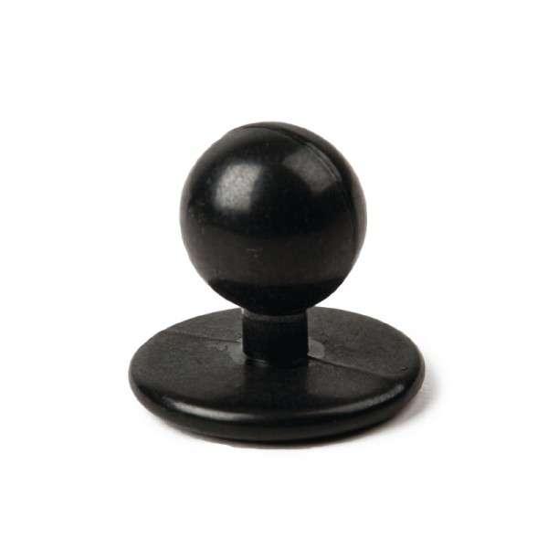 Kugelknöpfe schwarz (Box = 12 Stück)