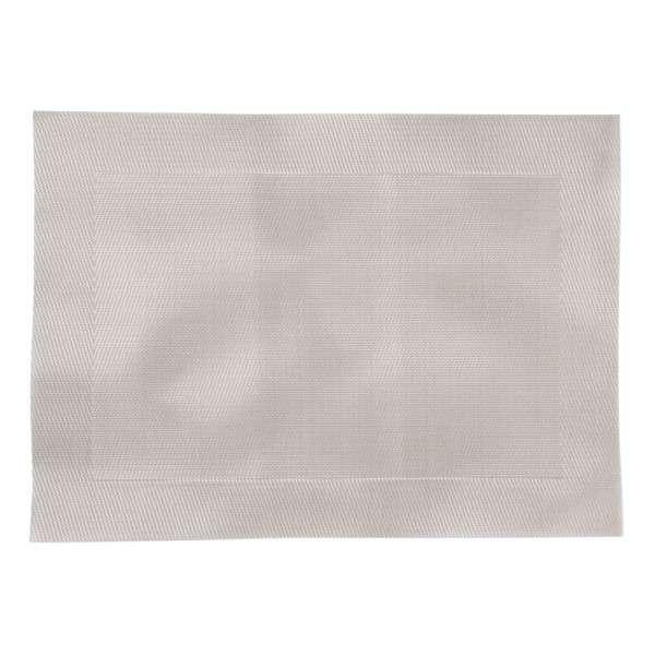 PVC gewebtes Tischset silber 30x40cm