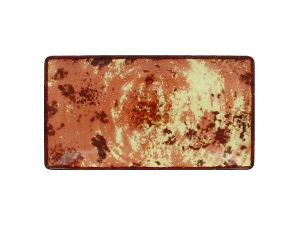 TELLER FLACH RECT. 33 x 18 cm - BROWN