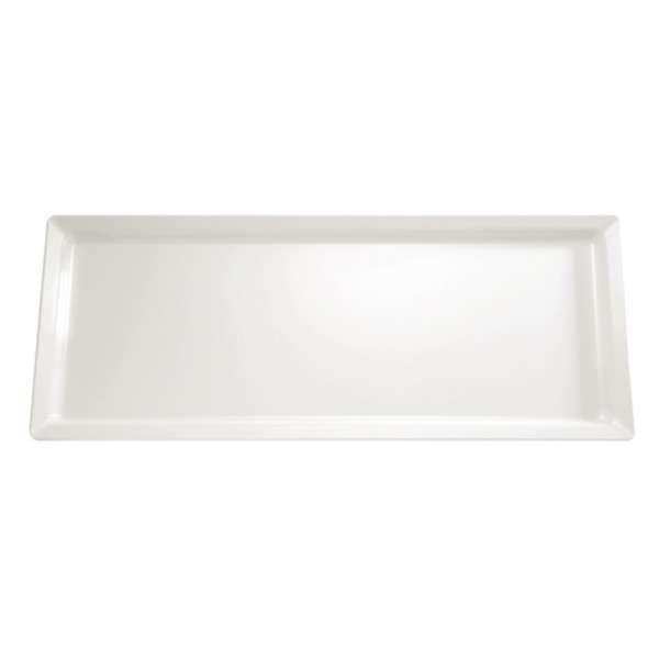 Pure Melaminplatte rechteckig weiß 65x26,5cm