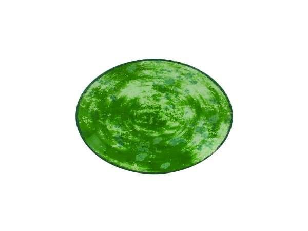 TELLER OVAL 26 CM - GREEN