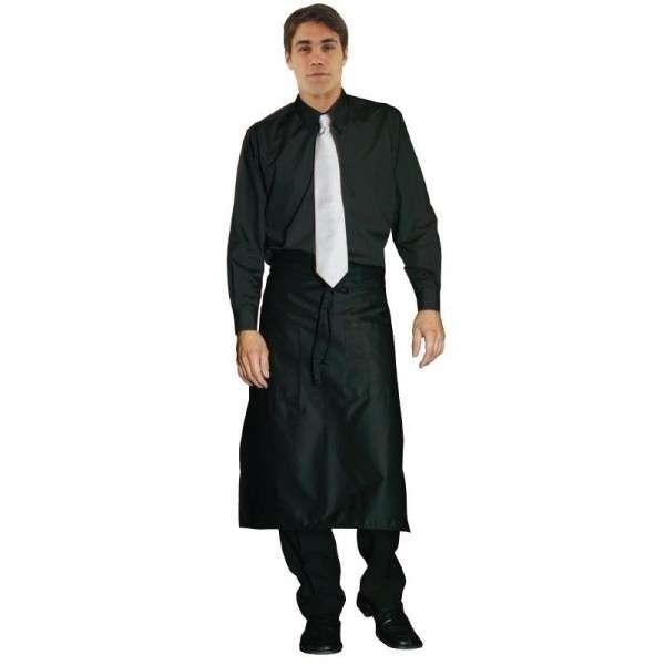Unisex Herren-Oberhemd Langarm schwarz Größe: XL