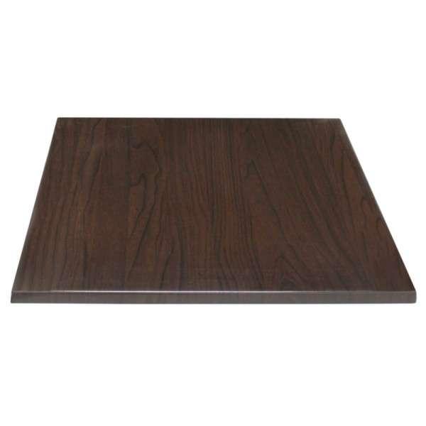 Bolero Tischplatte Viereckig Dunkelbraun 60 cm