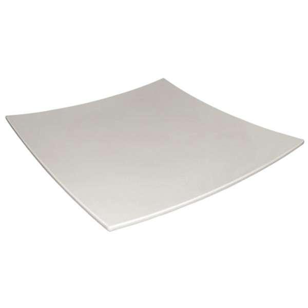 Kristallon gerundeter quadratischer Teller weiß 310x310mm