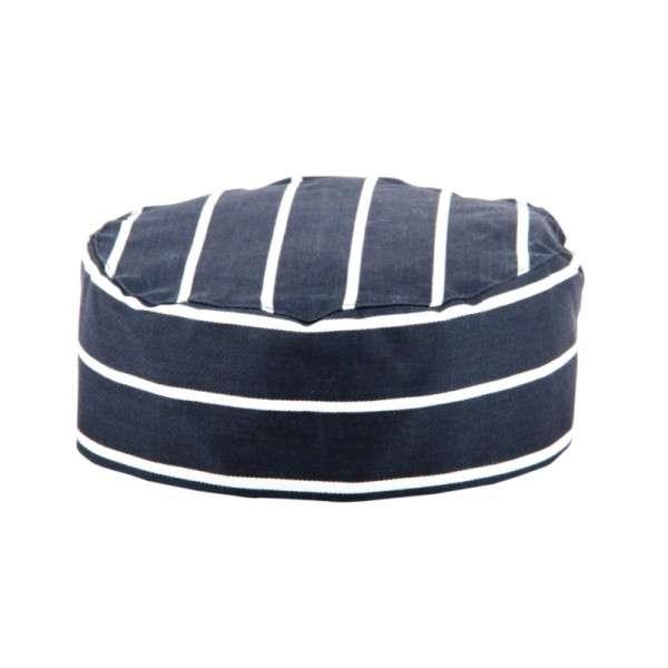 Kochmütze blau weiß gestreift