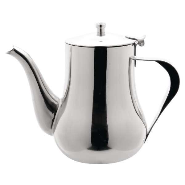 Arabische Edelstahl-Kaffeekanne 1,0 l