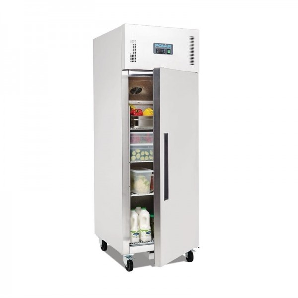 Polar Edelstahl-Kühlschrank 600 Liter
