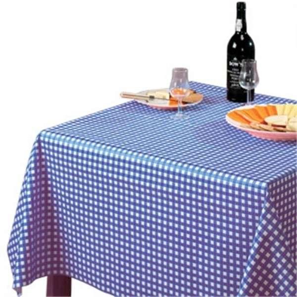 PVC Tischdecke blau/weiß 135x135cm