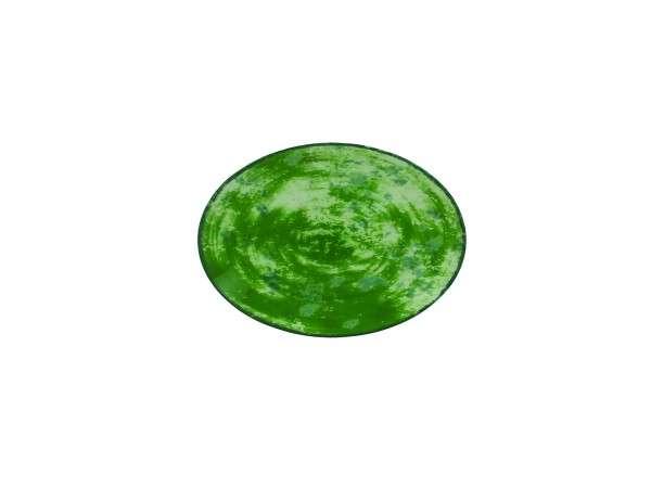 TELLER OVAL 21 CM - GREEN
