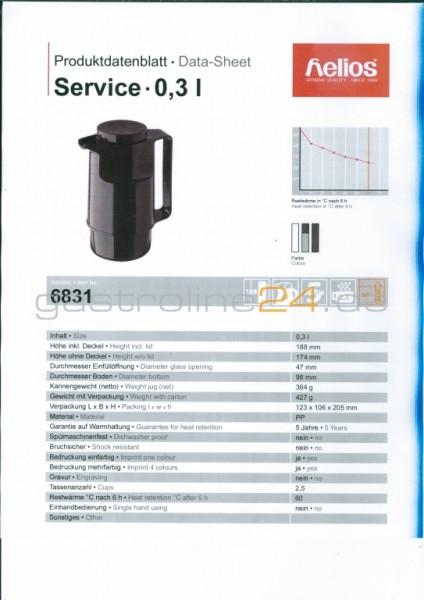 Isolierkanne SERVICE 0,3 Liter