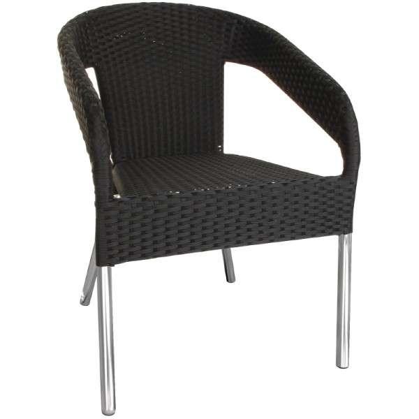 Rattan Bistro Außen Kunststoff Bolero Schwarzstühle Stuhl Rq543jla